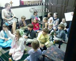 Children at Church Image