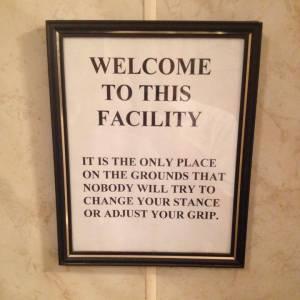 Urinal sign