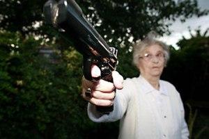 Granda Ma with gun