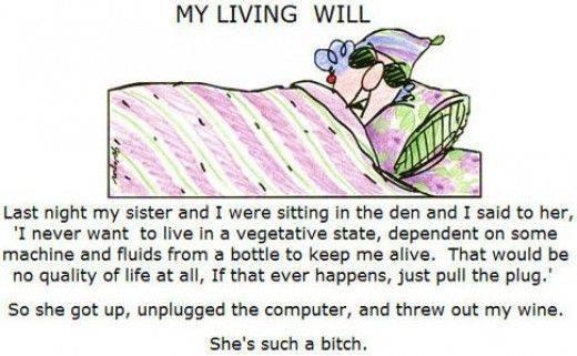 My Living Will Maxine