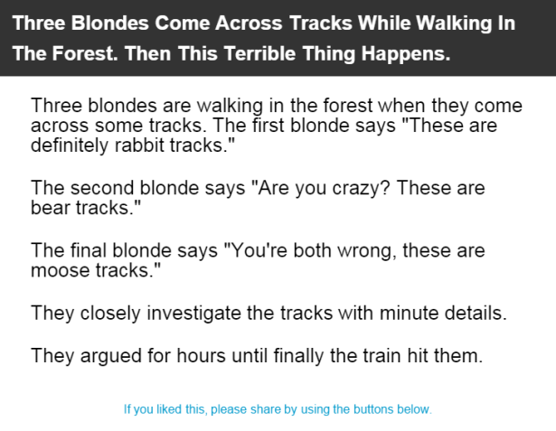 Blonde train